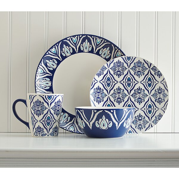 Candice 16 Piece Dinnerware Set, Service for 4 by Birch Lane™