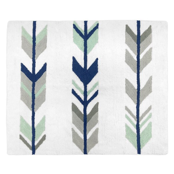 Floor Cotton Blue/Gray Area Rug by Sweet Jojo Designs