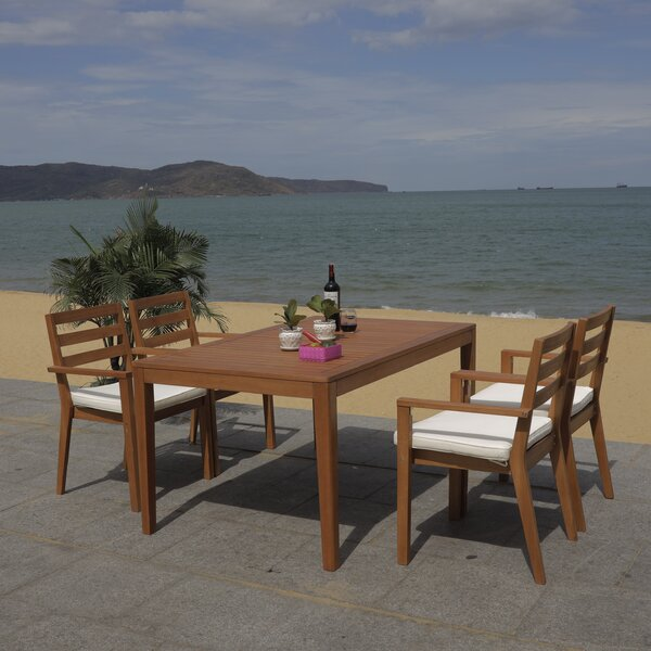 Gaynell Wilming 5 Piece Dining Set with Cushions by Bay Isle Home