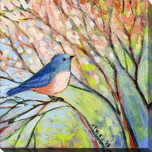 Bird by Jennifer Lommers Painting Print on Wrapped Canvas by Picture Perfect International