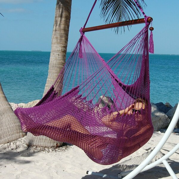 Travis Large Caribbean Polyester Chair Hammock by Bungalow Rose