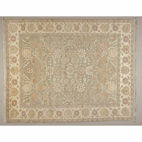 One-of-a-Kind Hand-Knotted Beige 8' x 10' Wool Area Rug