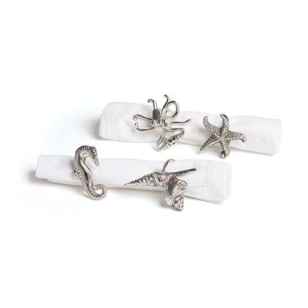 Metal Napkin Ring (Set of 4) by Beachcrest Home