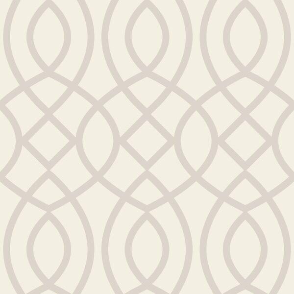 Trellis Woven Geometric Panel 78'' H x 26'' W Wallpaper by Swag Paper