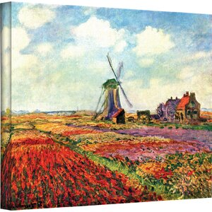 'Windmill' by Claude Monet Painting Print on Wrapped Canvas by Alcott Hill