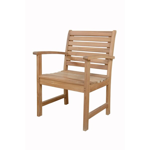 Noe Teak Patio Dining Chair by Bay Isle Home