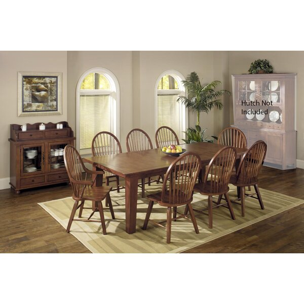 Adal 10 Piece Solid Wood Dining Set by August Grove