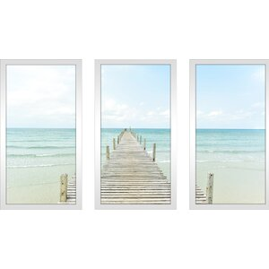 By the Dock 3 Piece Framed Photographic Print Set by Picture Perfect International