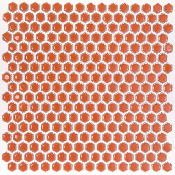 Bliss 0.6 x 0.6 Ceramic Mosaic Tile in Mango by Splashback Tile
