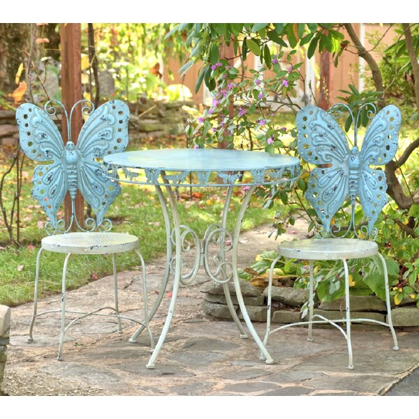 Pina Butterfly 3 Piece Bistro Set by August Grove