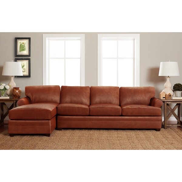 Lyw Leather Left Hand Facing Sectional By Klaussner Furniture
