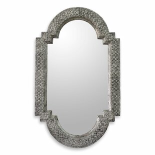 Novica Repousse Brass Nickel Artisan Crafted Wall Mirror