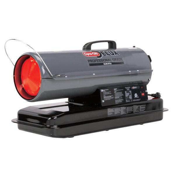 50,000 BTU Portable Kerosene Forced Air Utility Heater With Run Time Fuel Gauge By Dyna-Glo