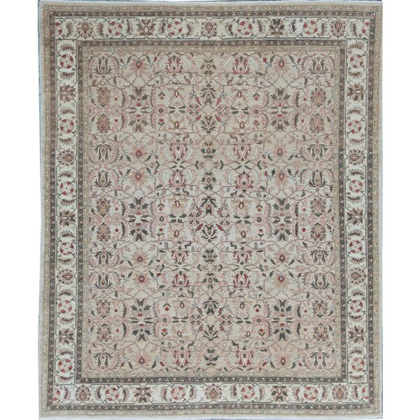Oriental Hand-Knotted Wool Beige/Ivory Area Rug