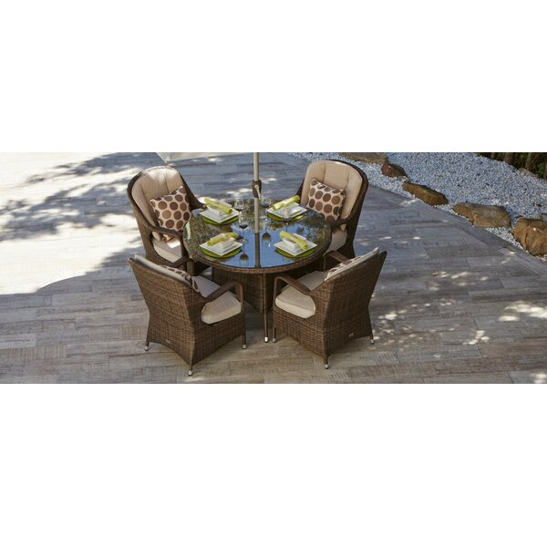 Guardado 5 Piece Outdoor Dining Set by August Grove