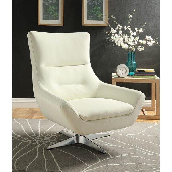 Pilika Swivel 20-inch Armchair by Orren Ellis Orren Ellis