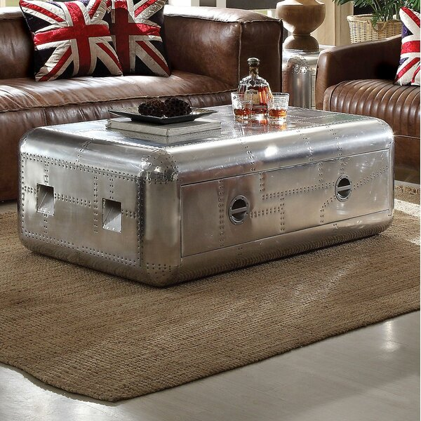 Dunphy Aluminum Coffee Table by 17 Stories