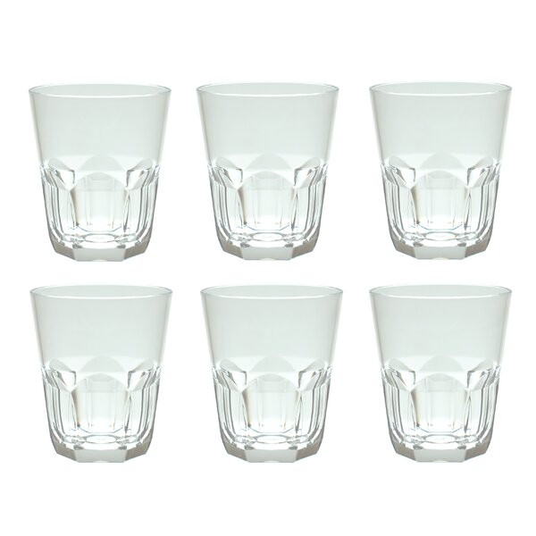Rosaura 15 oz. Plastic/Acrylic Rocks Glass (Set of 6) by Red Barrel Studio