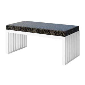 Ahumada Leopard Upholstered Bench by Everly Quinn