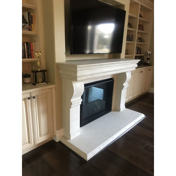 Hamilton Fireplace Surround With Heart By Los Angeles Cast Stone