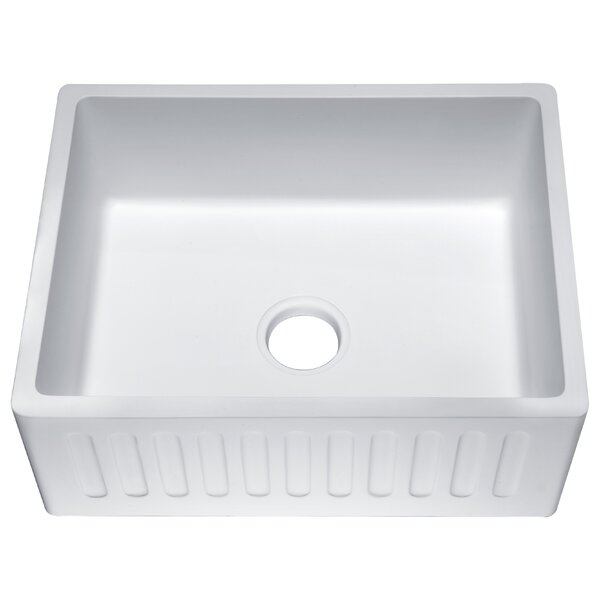 Roine Single Bowl 9 L x 18 W Farmhouse Kitchen Sink by ANZZI