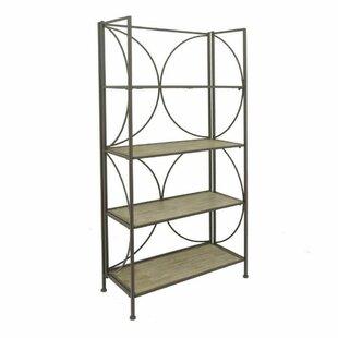 Postel Metal Wood Etagere Bookcase Latitude Run