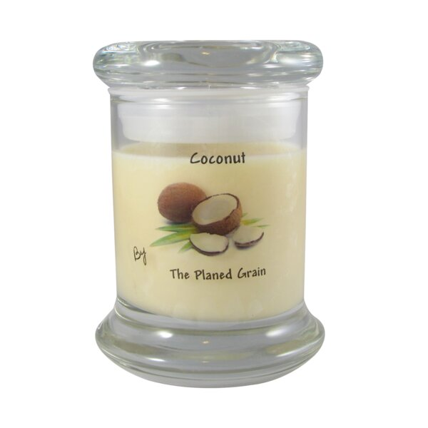 Coconut Soy Scented Jar Candle by The Planed Grain