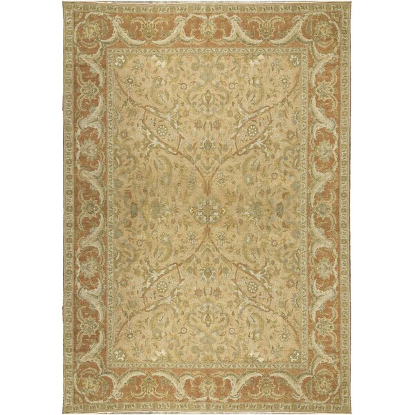 One-of-a-Kind Turkish Nature Hand-Knotted Wool Beige/Rose Area Rug by Bokara Rug Co., Inc.