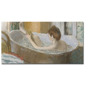 Woman in Her Bath 1883 by Edgar Degas Painting Print on Wrapped Canvas by Trademark Fine Art