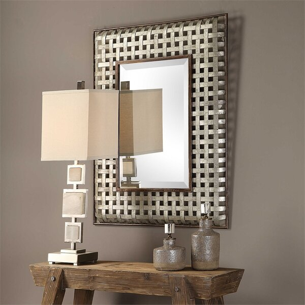 Trip Galvanized Metal Accent Mirror by Williston Forge