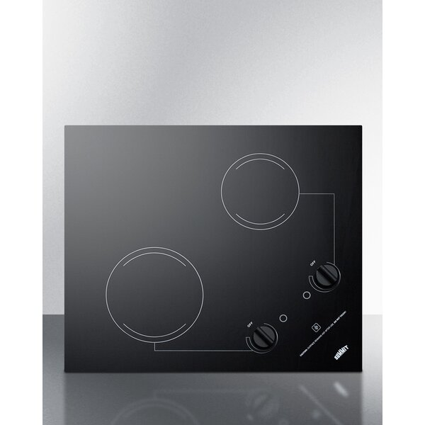 Summit 21 Electric Radiant Cooktop with 2 Burners