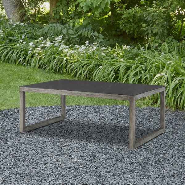 Monaco Aluminum Coffee Table by Real Flame