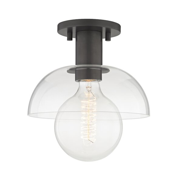 Grayson 1-Light Semi Flush Mount by Corrigan Studi