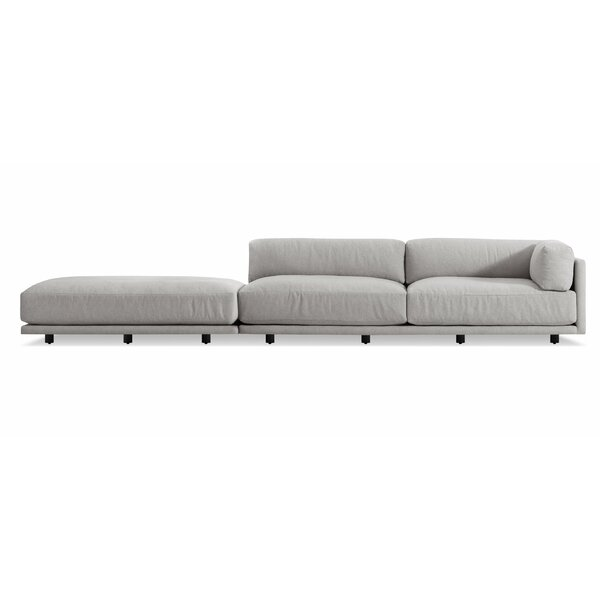 Sunday Long and Low Right Sectional Sofa by Blu Dot