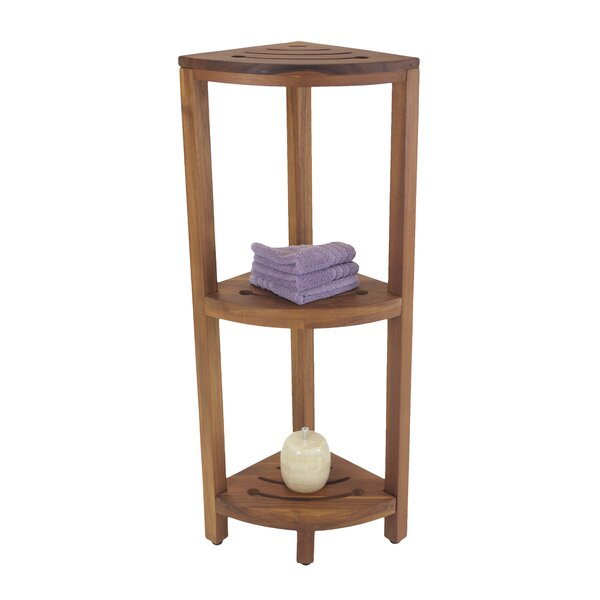 12 W x 40.5 H Bathroom Shelf by Aqua Teak