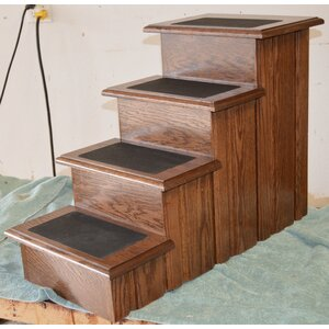 Clarise Raised Panel 4 Step Pet Stair