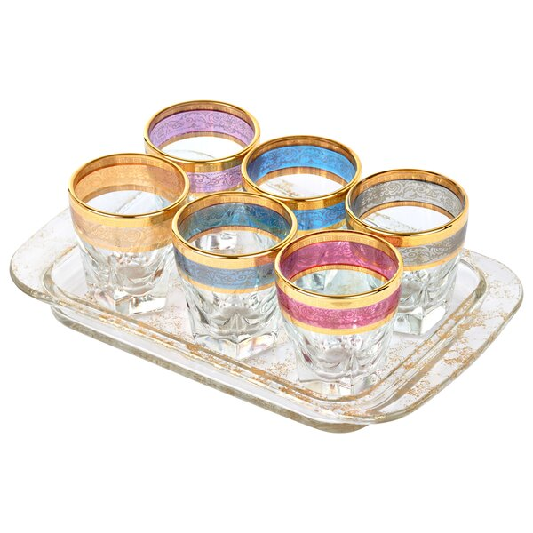7 Piece 2 Oz. Glass Shot Glass by Lorren Home Trends