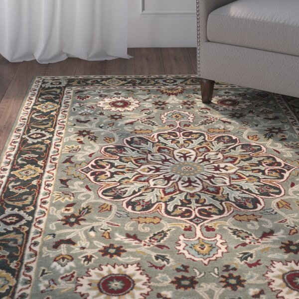 Cranmore Hand-Tufted Gray/Charcoal Area Rug by Charlton Home