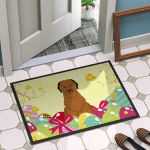 Easter Eggs Briard Indoor/Outdoor Doormat
