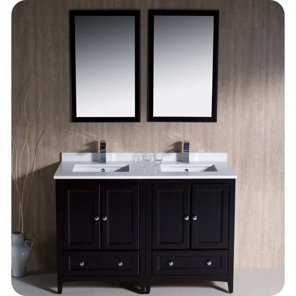 @ Oxford 48 Double Bathroom Vanity Set with Mirror by Fresca| #$0.00!