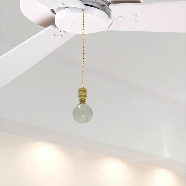 Fan Pull Chain with Clear Crystal Finial by Royal Designs