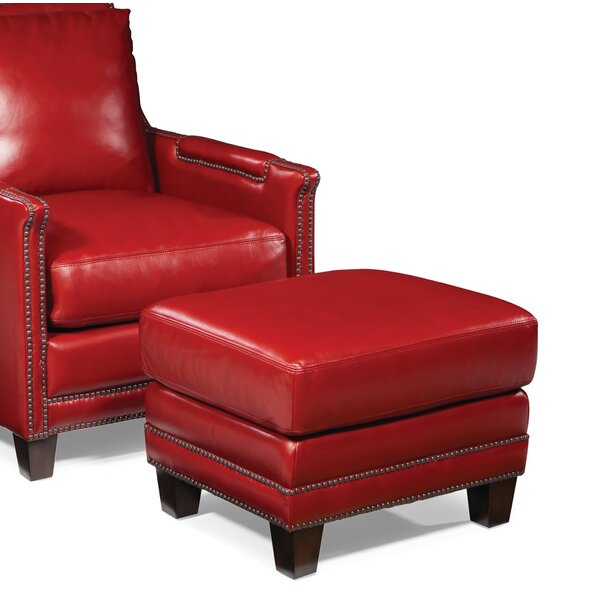 Edward Leather Ottoman
