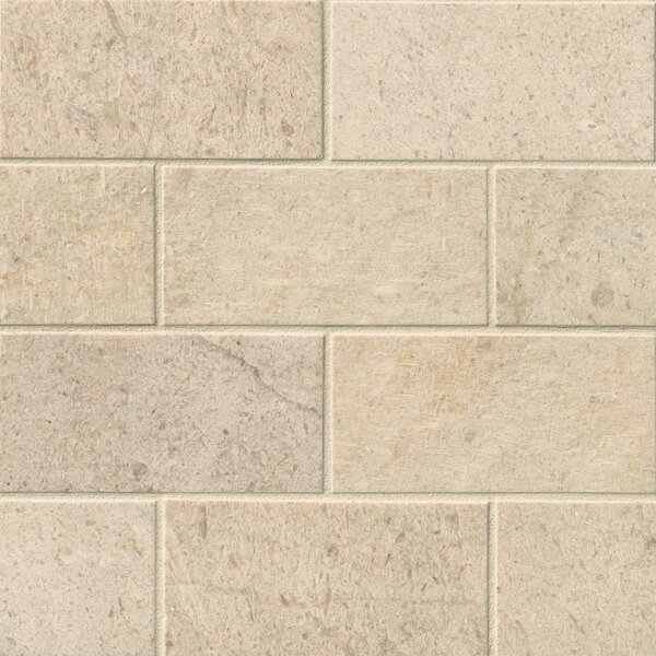 3 x 6 Limestone Subway Tile in Coastal Sand by MSI