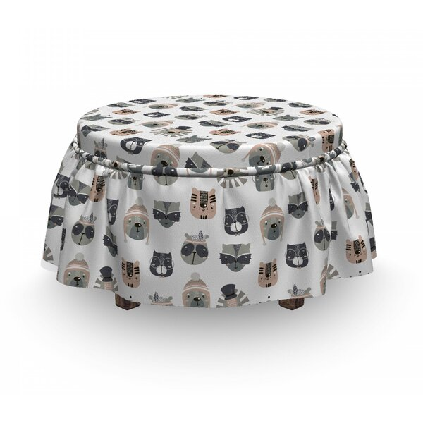 Animals In Costume Ottoman Slipcover (Set Of 2) By East Urban Home