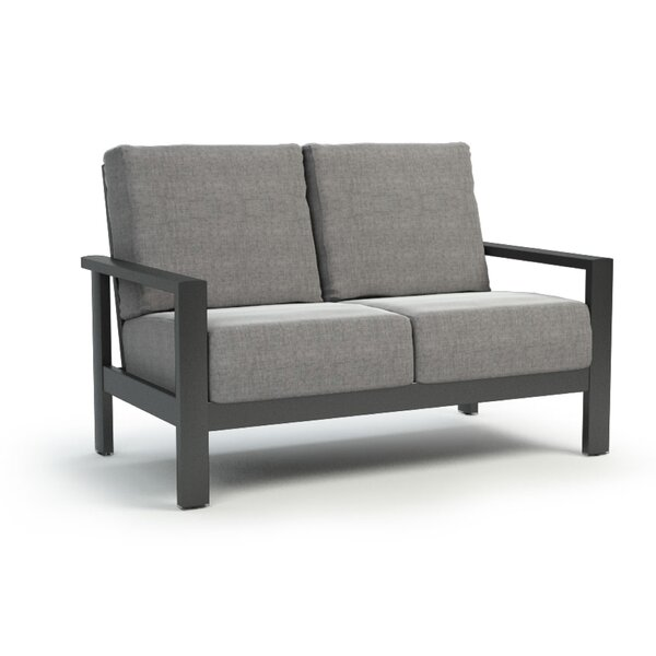 Gagne Loveseat with Sunbrella Cushions by Breakwater Bay