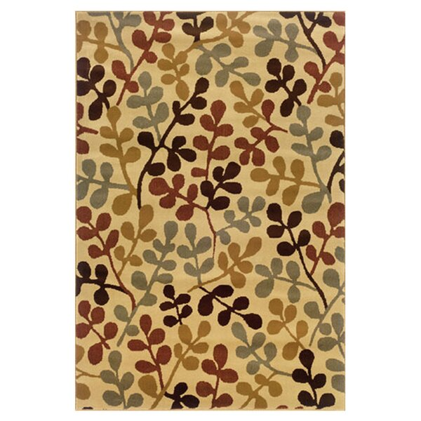 Garmon Ivory/Green Area Rug by Andover Mills