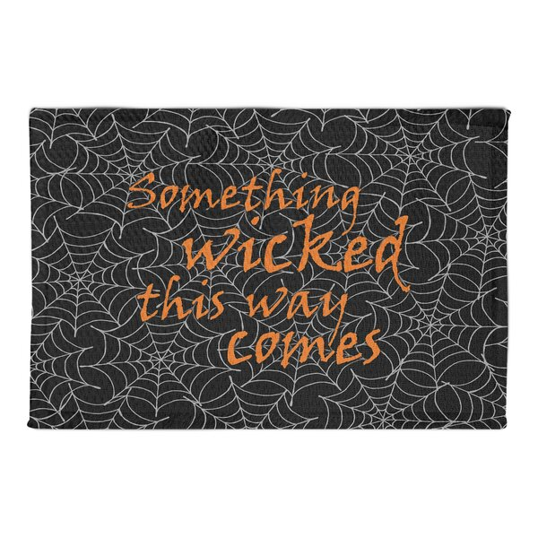 Asa Something Wicked Black Area Rug by The Holiday Aisle