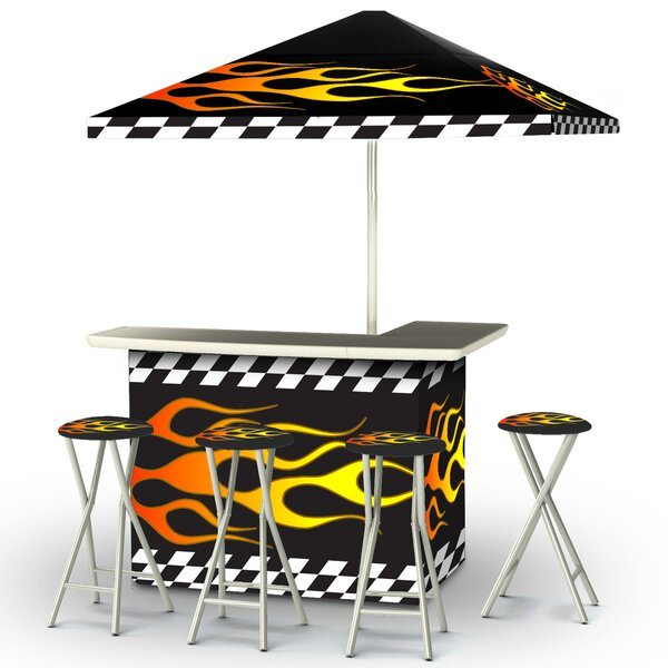 Racing Flames 8 Piece Bar Set by Best of Times Best of Times