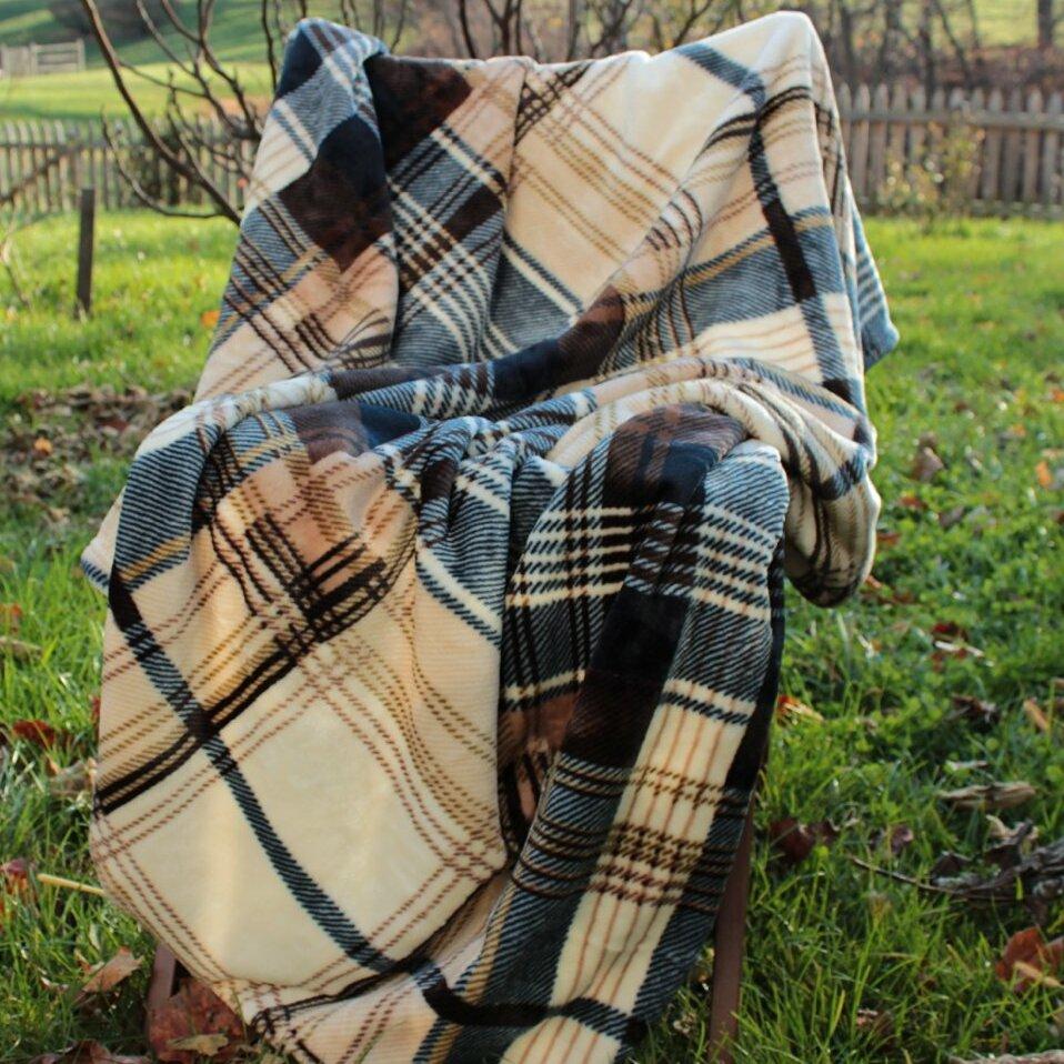 Tache Home Fashion Winter Cabin Flannel Polyester Throw Blanket Reviews Wayfair
