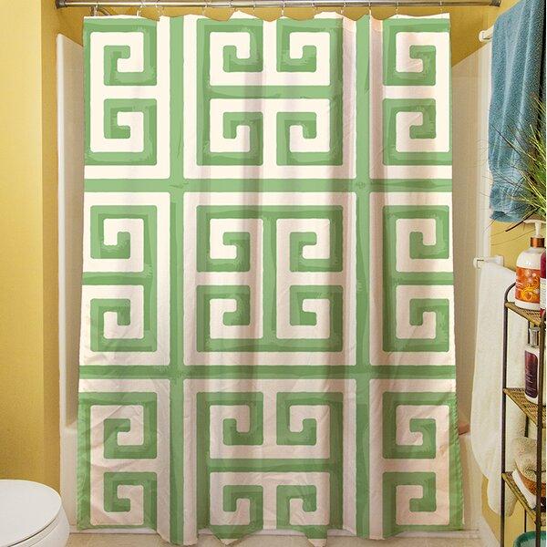Greek Key II Shower Curtain by Manual Woodworkers & Weavers